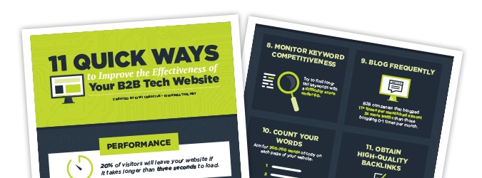 Kiwi Creative - The 11 Quick Ways to Improve the Effectiveness of Your B2B Tech Website