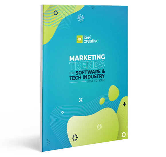 2021 marketing trends in the software & tech industry report mockup